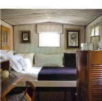 """Interior of showman's wagon from the book """"Shed Chic"""""""