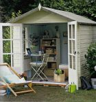 shed as office from Shed Chic
