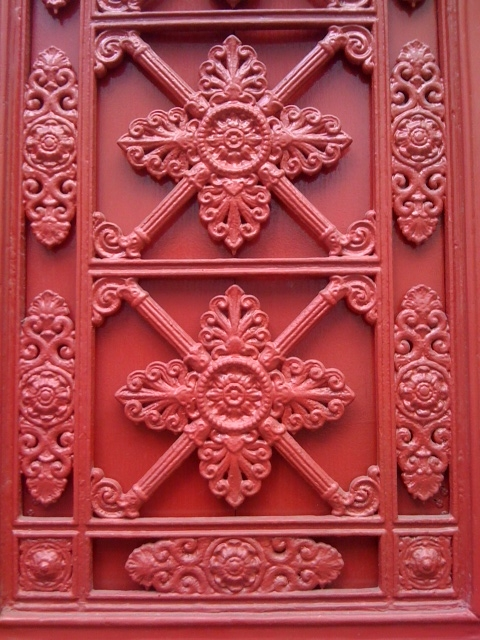 Beautiful carved door Paris Red