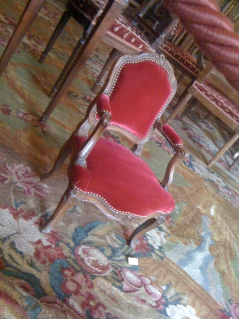 Paris Red Chair Musee Camondo