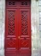 striking red door Paris