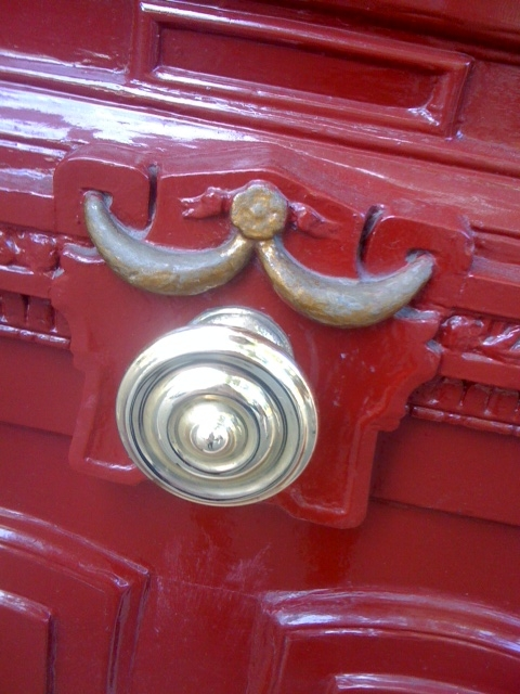 Paris Red doorknob