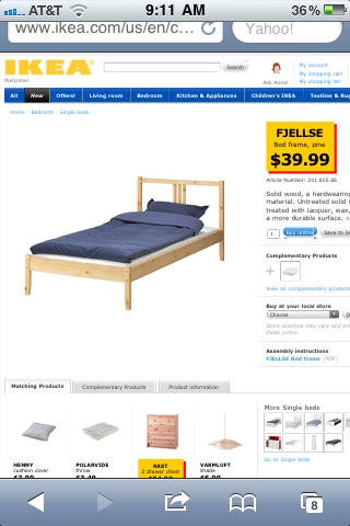Fjellse Bed Ikea